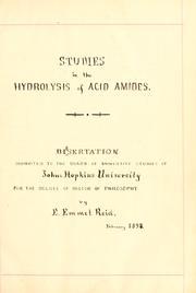 The hydrolysis of acid amides .. PDF