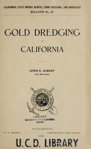 Gold dredging in California PDF