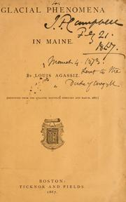 Glacial phenomena in Maine