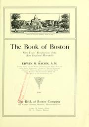 Cover of: The book of Boston by Edwin M. Bacon