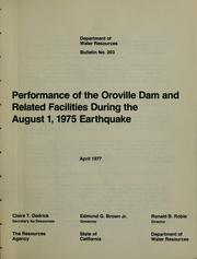 Performance of the Oroville Dam and related facilities during the August 1, 1975, earthquake PDF