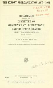The Export reorganization act, 1975 PDF
