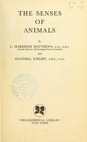 The senses of animals PDF