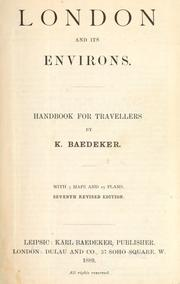 London and its environs by Karl Baedeker (Firm)