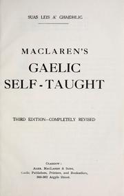 MacLaren's Gaelic self-taught by James MacLaren