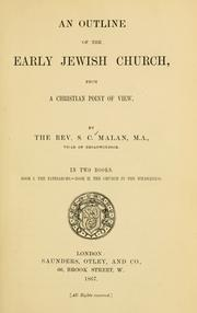 An outline of the early Jewish church PDF