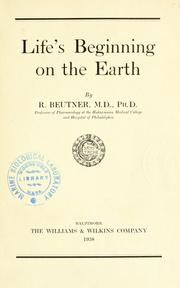Life's beginning on the earth PDF