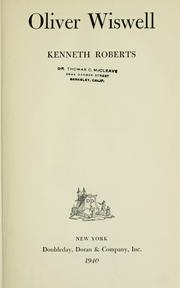 Cover of: Oliver Wiswell by Roberts, Kenneth Lewis