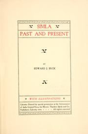 Simla, past and present by Buck, Edward John Sir