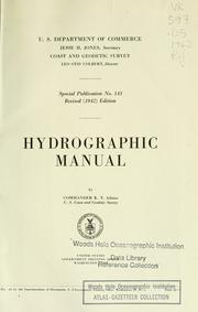 Hydrographic manual by U.S. Coast and Geodetic Survey.