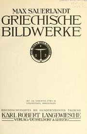 Griechische bildwerke by Max Sauerlandt