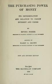 The purchasing power of money by Fisher, Irving