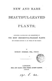 New and rare beautiful-leaved plants by Shirley Hibberd