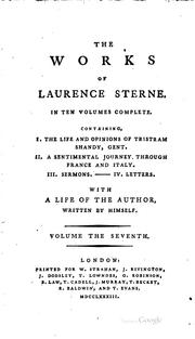 The works of Laurence Sterne by Laurence Sterne