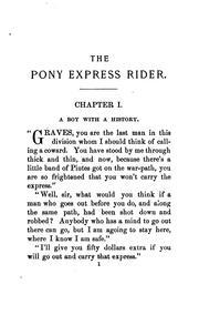 The pony express rider PDF