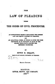 The law of pleading under the codes of civil procedure PDF