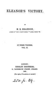 Eleanor's victory by Mary Elizabeth Braddon