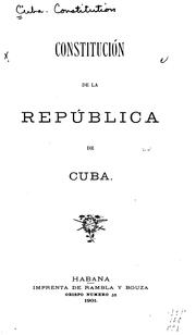 Constitucin (1976) by Cuba.