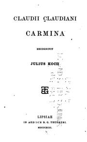 Claudii Claudiani Carmina