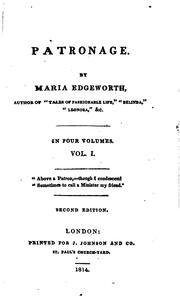 Patronage by Maria Edgeworth