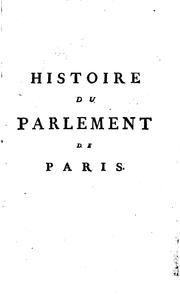Histoire du Parlement de Paris by Voltaire
