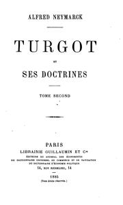 Turgot et ses doctrines by Alfred Neymarck