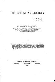 The Christian society by Herron, George Davis