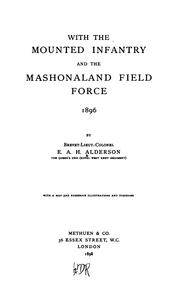 With the mounted infantry and the Mashonaland Field Force, 1896 PDF