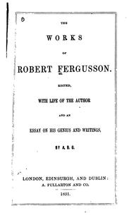 The works of Robert Fergusson PDF