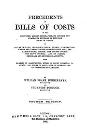 Precedents of bills of costs, in the Chancery, Queen's Bench, Probate, Divorce, and Admiralty Divisions of the High Court of Justice PDF