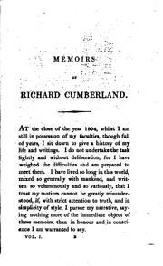 Memoirs of Richard Cumberland by Richard Cumberland