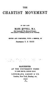 The Chartist movement by Hovell, Mark