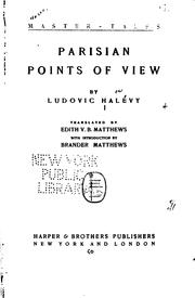 Parisian points of view by Ludovic Halévy