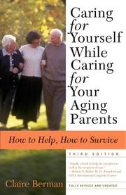Caring for Yourself While Caring for Your Aging Parents PDF