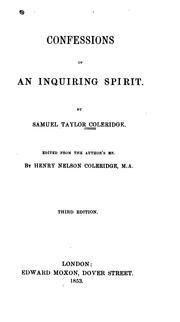 Confessions of an inquiring spirit PDF