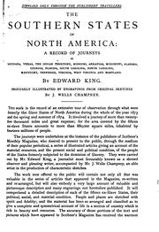 Cover of: The Southern states of North America by King, Edward