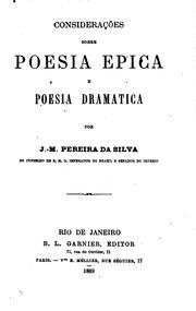 Considerações sobre poesia epica e poesia dramatica