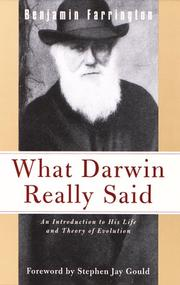 What Darwin Really Said (What They Really Said) PDF