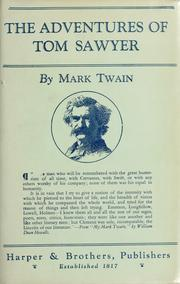 Cover of: The adventures of Tom Sawyer by Mark Twain