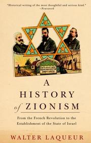 A history of Zionism by Walter Laqueur