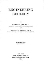 Engineering geology by Ries, Heinrich