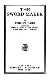 The Sword Maker by Robert Barr