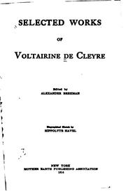 Selected works of Voltairine de Cleyre PDF