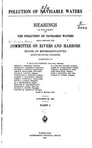 Pollution of navigable waters by United States. Congress. House. Committee on Rivers and Harbors