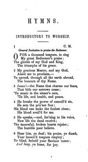 Hymns for the use of the Methodist Episcopal Church by Methodist Episcopal Church.