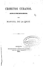Cromitos cubanos by Manuel de la Cruz