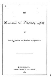 The manual of phonography PDF
