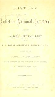Cover of: History of Antietam National Cemetery by Maryland. Board of Trustees of the Antietam National Cemetery.
