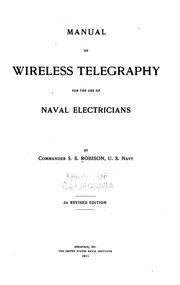 Manual of wireless telegraphy for the use of naval electricians PDF