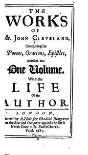 The works of Mr. John Cleveland by Cleveland, John